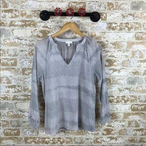 Soft joie gray gauzy blouse